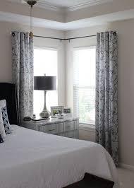 windows drapery rods for corner windows inspiration bay window