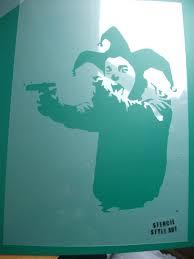 banksy home decor banksy stencil insane clown banksy clown jester guns