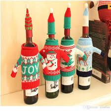 2017 wine set decorations high quality creative knitting