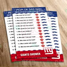 sports invites new york giants u2013 mom or dad baby shower game