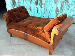vintage french leather club chair day bed item 445382