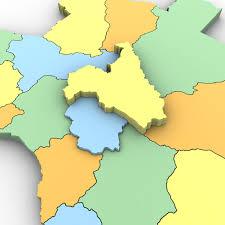 Angola Map 3d Political Map Of Angola Cgtrader