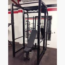 Bench For Power Rack Elitefts Garage Line 3x3 Power Rack With Weight Storage