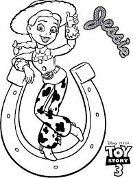 jessie horseshoe tipping toy story 3 coloring