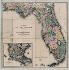 Florida Towns Map Map Of The State Of Florida 1882
