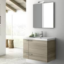 Contemporary Vanity Table Modern 31 Inch Bathroom Vanity Set With Ceramic Sink Larch