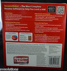 Resume Maker Pro 17 Individual Software Resume Maker Pro Deluxe 17 Cand Merc Thesis