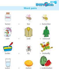 kindergarten english word pairs preschool and kindergarten