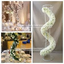 Wedding Decor Wholesale Striped Fake Flower Table Wedding Centerpieces Decoration