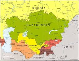 South Asia Political Map by Map Of Central Asia Central Asia Political Map Central Asia