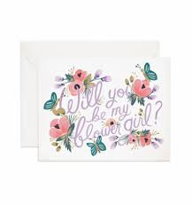 will you be my flower girl gift rifle paper co will you be my flower girl card anthem style gift