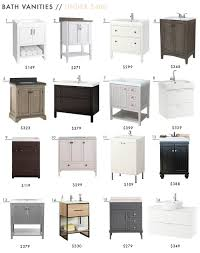 18 Inch Wide Bathroom Vanity Cabinet by 68 Readymade Bath Vanities Emily Henderson