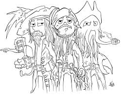 pirates caribbean coloring pages perfect pirates