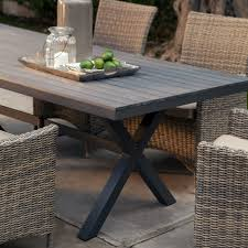 7 Piece Aluminum Patio Dining Set - belham living bella all weather wicker 7 piece patio dining set