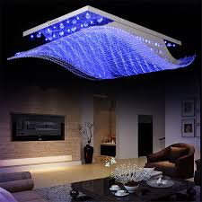 changeable 4color blue purple white modern led glass