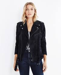 biker coat the reese biker jacket in blue night made in italy ag jeans