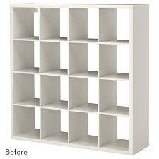 ikea hacks storage before and after a genius bookshelf turned kitchen storage ikea