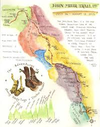 Pct Oregon Map by John Muir Trail Besthike Com