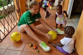 volunteer with children in jamaica projects abroad