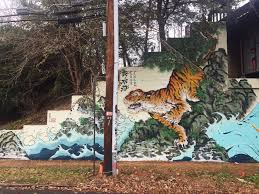wwf cause to double the tigers street artists contribute best tiger painted by xav tiger mural by brandon sadler aka rising red lotus
