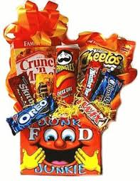 junk food gift baskets junk food candy and snack bouquet from all about gifts and baskets