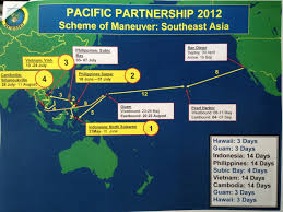 Map Of Guam Life On Board The Usns Mercy Pacific Partnership 2012