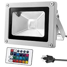 how to waterproof led lights warmoon 10w waterproof led flood light with us 3 plug and remote