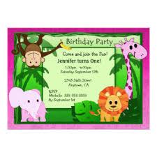 jungle theme birthday party jungle theme birthday invitations announcements zazzle