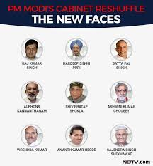 Portfolio Of Cabinet Ministers Of India Modi Cabinet Reshuffle Highlights 9 New Ministers Key Ministry