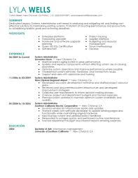 kronos systems administrator resume download unix system