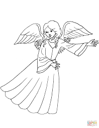 cute angel coloring page free printable coloring pages