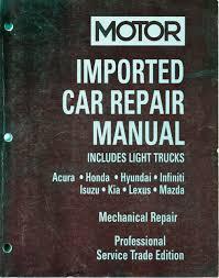 motor imported car repair manual rh value publishing