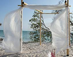 How To Decorate A Wedding Arch Beach Wedding Decorations Bamboo Arches And By Beachweddingsupply