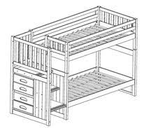 Bunk Bed Plans With Stairs Bunk Bed With Stairs Plans Free White Build A Sweet Pea