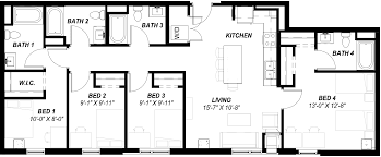 floor plans off campus housing at union on lincoln way