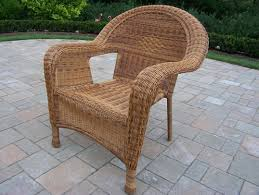 Pvc Wicker Outdoor Furniture by Oakland Living Resin Wicker Outdoor Arm Chair In Natural 90030