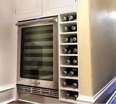 wine refrigerator storage brown color wine fridge brown wooden