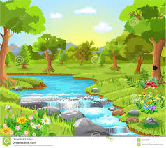 forest clipart spring background pencil and in color forest