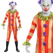 teens evil circus killer clown halloween skin suit costume