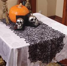 halloween tablecloth halloween fancy elegant gothic decor sheer black lace spider web