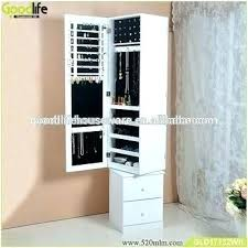 Jewelry Storage Cabinet Rotating Mirror Cabinet Upandstunning Club