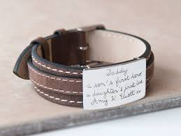 sterling silver leather bracelet images Personalised sterling silver leather bracelet jpg