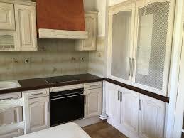 relooker cuisine chene réalisations relooking cuisine chêne en blanc patiné marseille