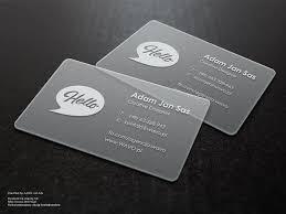 24 transparent business cards free u0026 premium templates