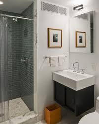 Floating Bathroom Vanity by Rectangle Shape White Bath Sink Above Black Wooden Floating