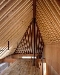 apollo architects enhances nord house u0027s asymmetric ceiling with