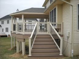 Stairs With Landing by Deck Steps Decks R Us