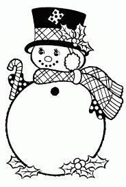 coloring pages winter snowman with hat winter coloring pages of