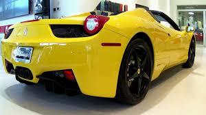 ferrari yellow interior ferrari 458 spider yellow youtube