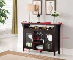 console table with wine storage amazon com kings brand furniture wine rack buffet server console